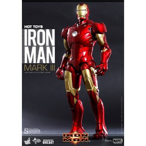 Iron Man Mark III Diecast MMS Figurine 1/6 Hot Toys