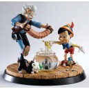 Pinocchio & Geppetto A Moment in Time Statue Enesco