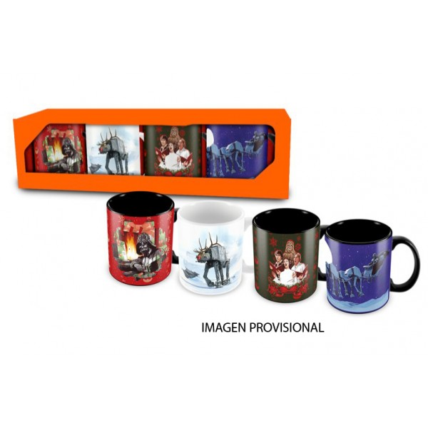 Star wars christmas espresso mug set 4 sd toys liberty for Tablier de cuisine star wars