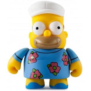Fat Hat Homer 3/40 The Simpsons 25th Anniversary Series Mini Figurine Kidrobot