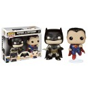 Batman vs Superman 2 Pack Metallic Exclusive POP! Heroes Figurine Funko