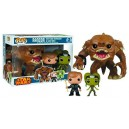 Rancor with Luke Skywalker & Slave oola POP! 3-Pack Bobble-head Funko