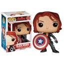 Black Widow with Cpt America Shield Exclusive - Avengers: Age of Ultron POP! Marvel Figurine Funko