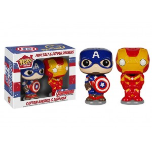 Captain America & Iron Man POP! Home Salt & Pepper Shakers Funko
