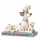 Puppy Love (Pongo with Penny & Rolly) Disney Traditions Enesco