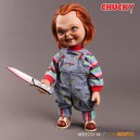 "Chucky - Child's Play Talking Sneering Figurine 15"" Mezco"